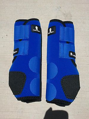 Classic-Equine-Legacy-Boots-BLUE-FRONT-or-HIND-Horse-Tack-SMB-Sport-Medicine
