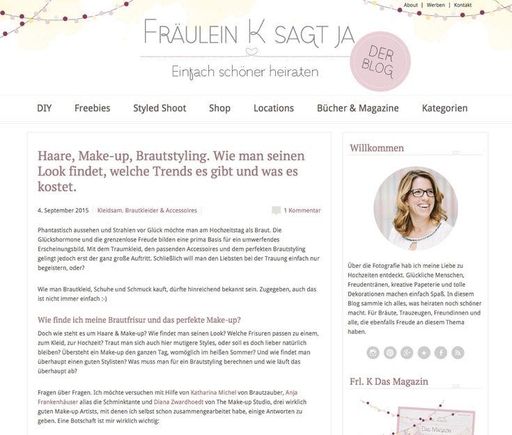 Die Schminktante im Interview. Dieses Mal bei Katja Heil zum Thema Brautstyling und wie unverzichtbar es für den Schönsten Tag im Leben ist.