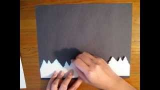 The following art lesson creates a tree line and glowing lights with the use of stencils and chalk pastels. Children preschool age to early elementary will enjoy completing this lesson to create the Northern Lights.  http://wecreatearttutorials.blogspot.com/ wecreatefinearts - YouTube