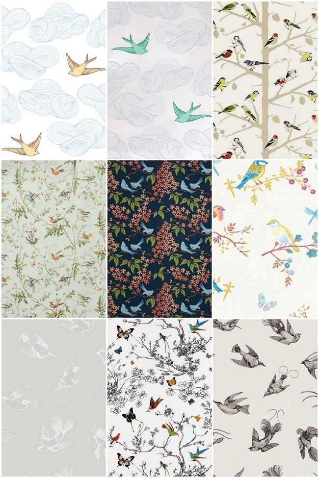 Bird Wallpaper {Put a Bird on It for Spring!} -- my fav is the one with the turquoise sparrows!