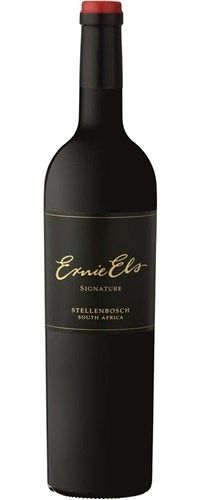 2011 Ernie Els Signature - Perhaps the most serious yet, it is a brooding, powerful Bordeaux-style blend produced from prime vineyards in the Helderberg appellation of Stellenbosch. Predominantly Cabernet Sauvignon, the purple edge and pitch black core immediately points to its unwavering nature and shadowing depth.