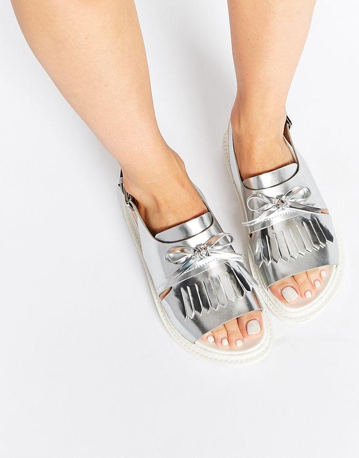 Image 1 ofASOS FANYA Fringe Sandals