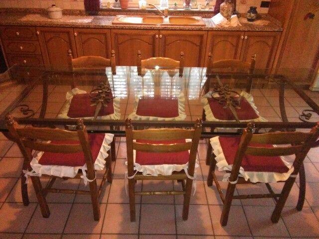 Tavolo in ferro battuto e vetro