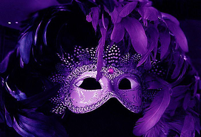 Purple mask.
