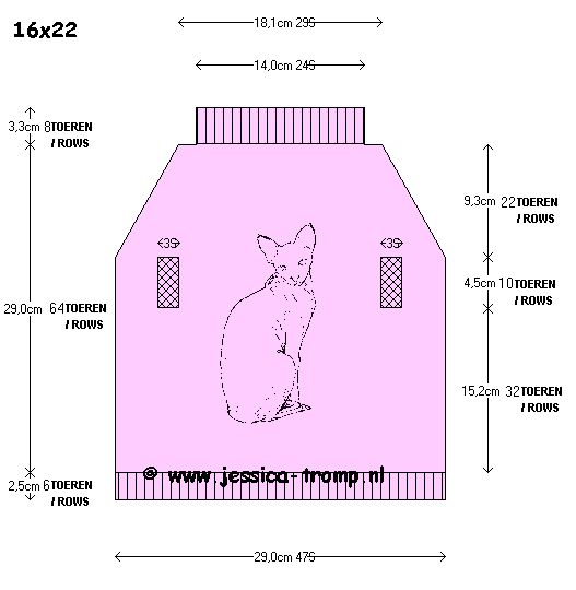 Cat sweater free knitting pattern