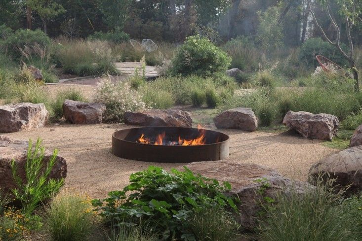designer shop online italy Fire pit at The Capri Lounge in Marfa Texas designed by Christine Ten Eyck Photograph by Terrence Moore  Outdoors  Fire Pits Fire and Lounges