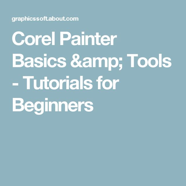 corel photo paint tutorials for beginners pdf