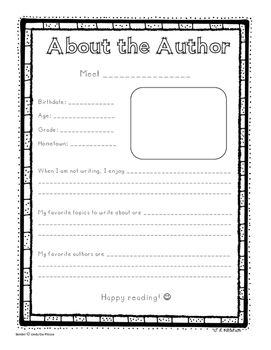 Get to know your authors! Students can easily include this About the Author page in their latest release!