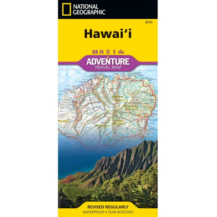 37 best hawaii map images on pinterest hawaiian islands hawaii hawaii adventure map national geographic store publicscrutiny Image collections