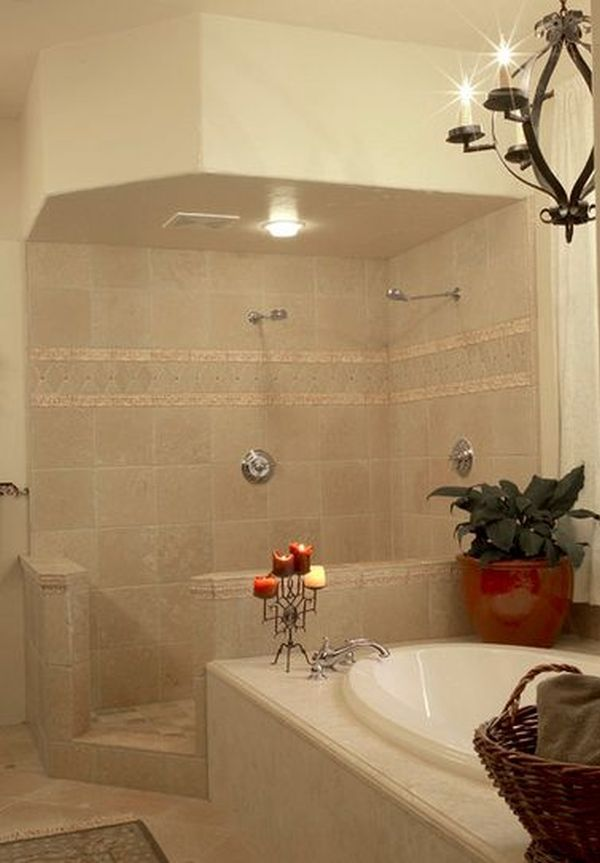 Doorless shower designs teach you how to go with the flow - Bathroom tile design ideas for small bathrooms ...