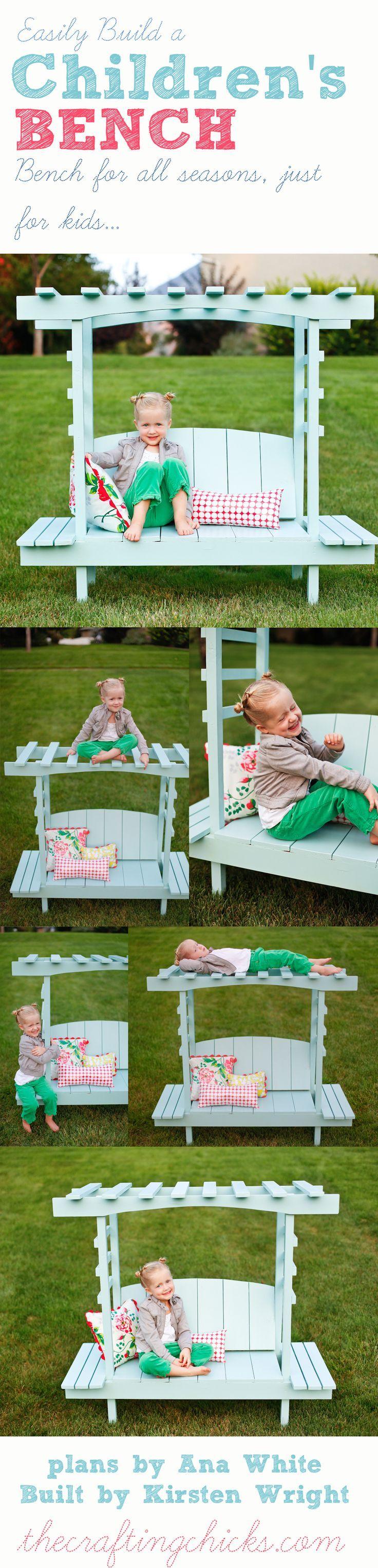 Children's bench. Ganz einfach eine tolle Sitzgelegenheit für die Kinder nachbauen. #Kinder#Bank#DIY