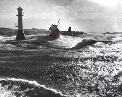 Crudos shipwreck at Kråksundsgap, Orust, Sweden.