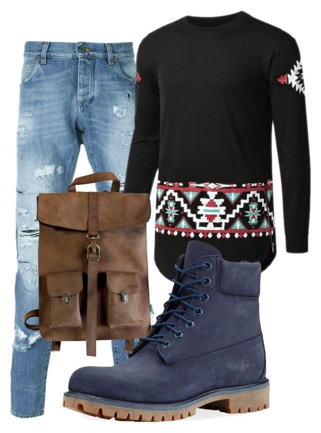 """Unbenannt #40"" by charlypony on Polyvore featuring Dolce&Gabbana, Timberland, Kjøre Project, men's fashion und menswear"