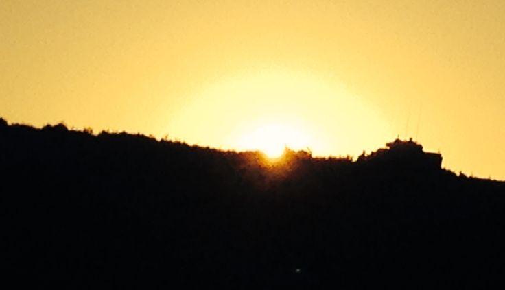Sunset Waiouru Cavalry  LAV 3