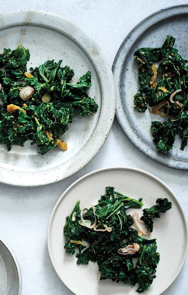 Sauteed Kale with Lime Pickle / Bon Appetit #paleo #recipe