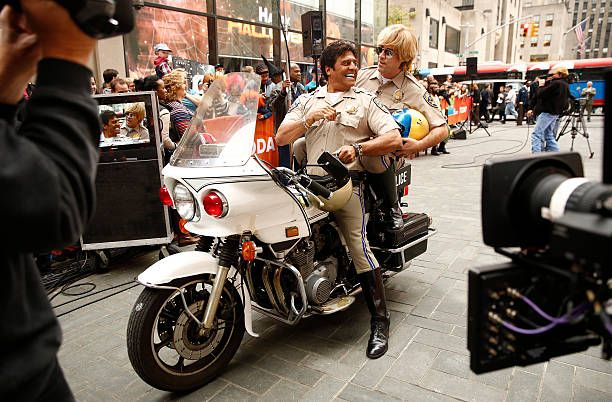 Erik Estrada and Carson Daly as Officer Jon Baker appear on NBC News' 'Today' show
