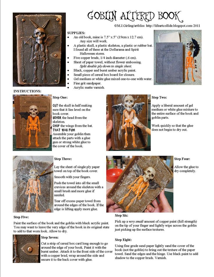 Altered Book Cover Tutorial : Best images about spook alley ideas on pinterest