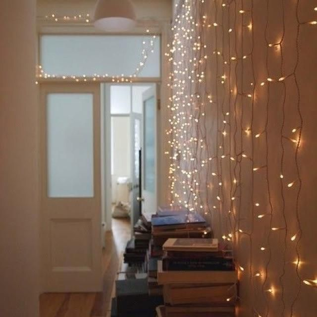 Decorating modern home decorating ideas indoor christmas for Home decor ideas string lights
