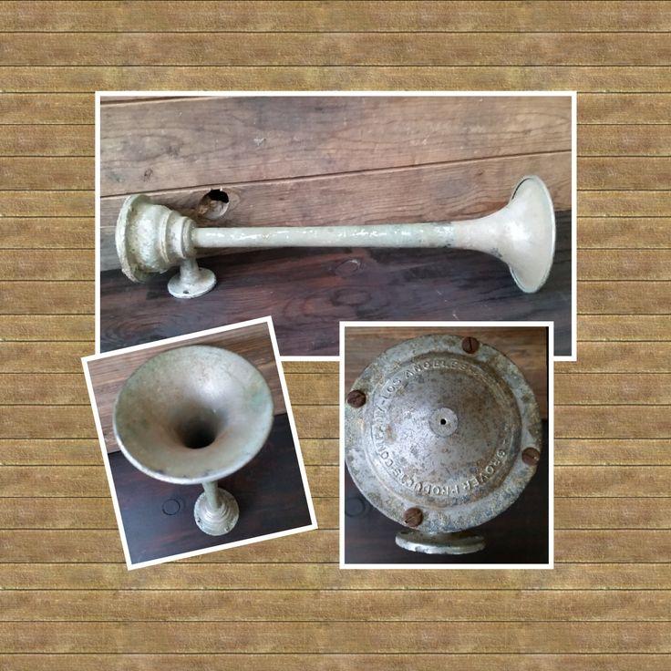 Vintage Grover Air Horn. Vintage horn, boat horn, car horn