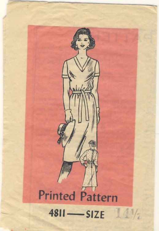 Mailorder 4811  Vintage 1970's Dress Size 14 by susanbeingsnippy
