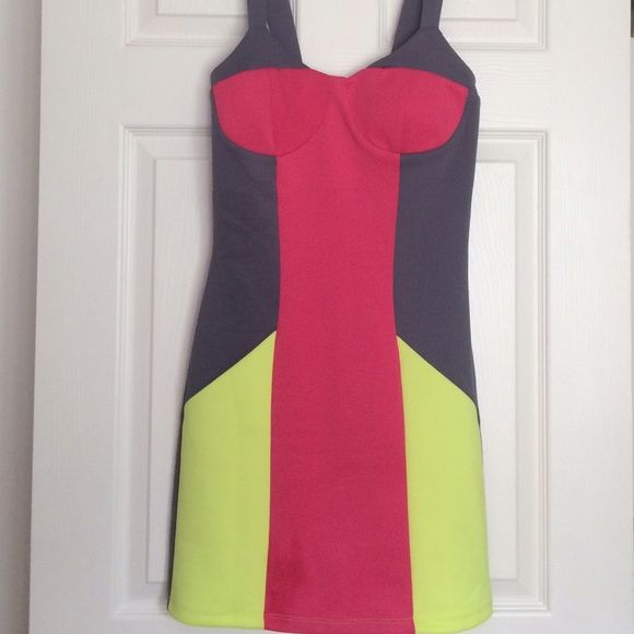 Dress Multi Colored Party dress.  Tag attached, Never worn Dresses