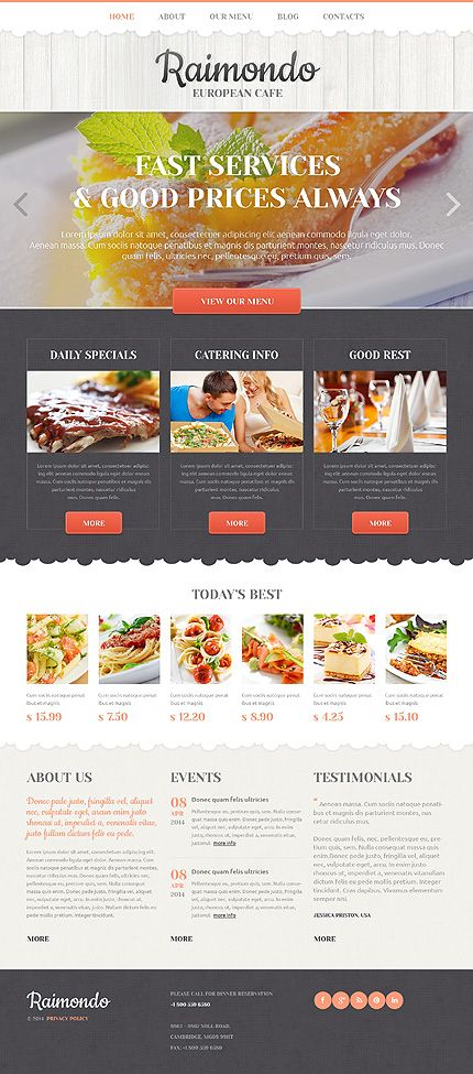 Best Restaurant Email Design Images On   Design