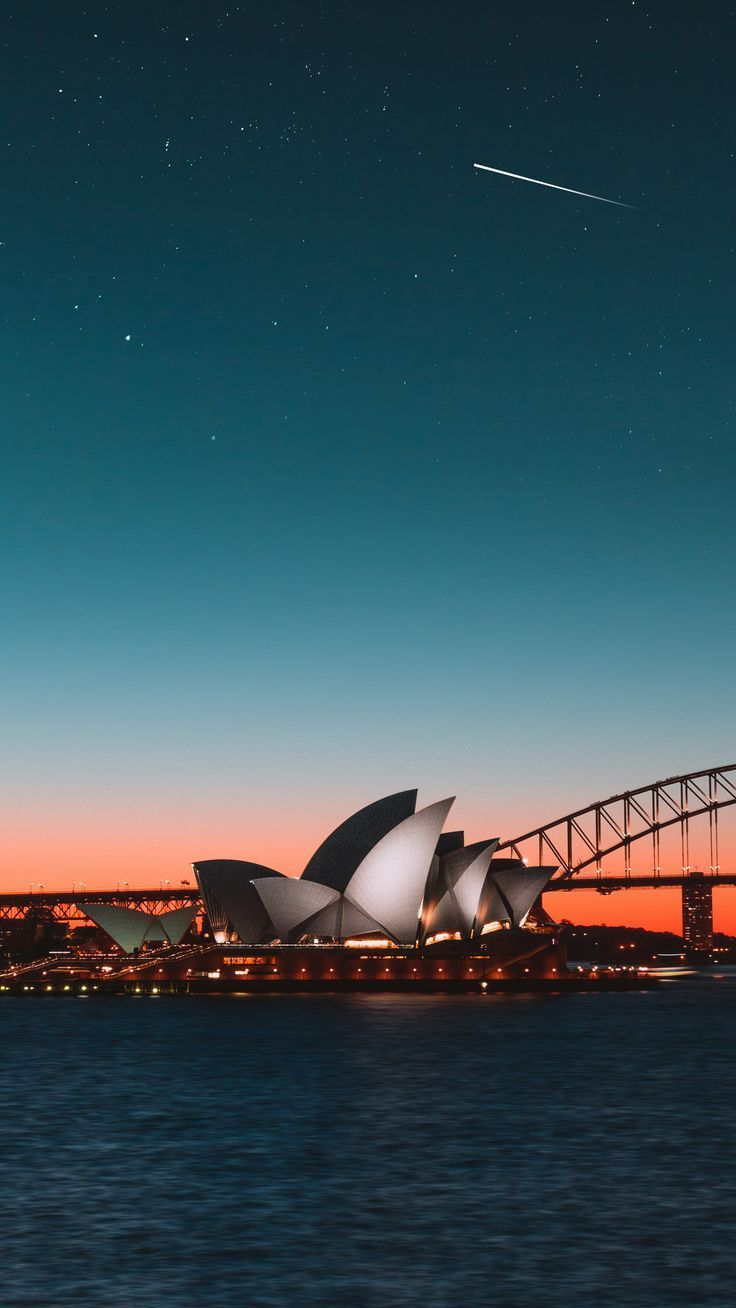 Places Sydneyoperahouse Nightcity Harbor Wallpapers Hd