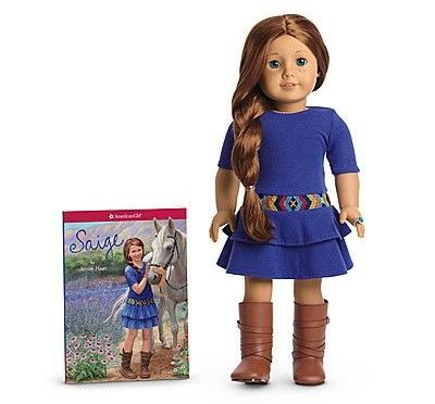 American Girl of 2013 Saige Doll & Paperback Book