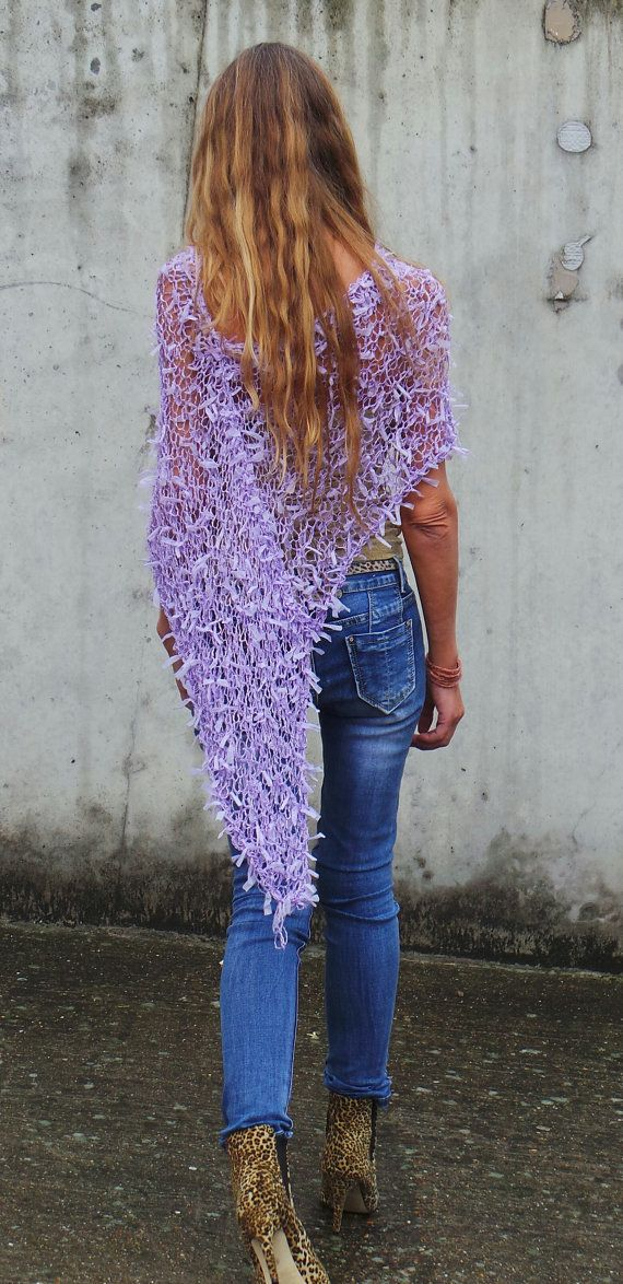 poncho Poncho de Lila cinta poncho de verano suelto por ileaiye