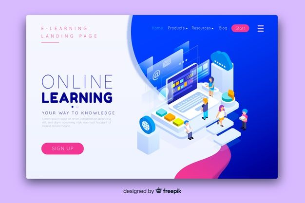 Download Online Education Landing Page For Free Com Imagens