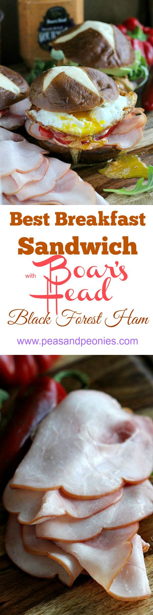 Boar's Head Black Forest Ham - the Perfect Pairings @boarshead : Showcasing three delicious pairings of how to serve Boar's Head Black Forest Ham: sweet, spicy savory and the ultimate breakfast sandwich - Peas and Peonies