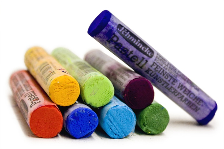 Schmincke Soft Pastels. Incredibly bright, saturated colours. #chalk #pastel #artsupplies #drawing