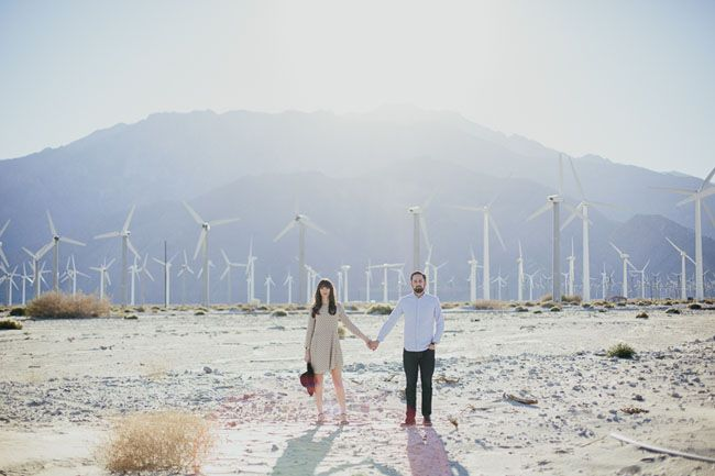 Palm Springs + Giant Rock Landers Engagement Featured on Green Wedding Shoes / Tangerine Tree Photography