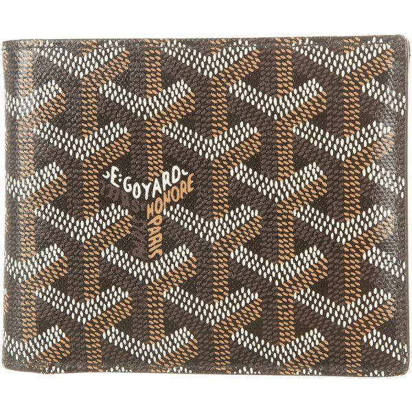 Pre-owned Goyard Goyardine Wallet ($825) ❤ liked on Polyvore featuring men's fashion, men's bags, men's wallets, black, mens wallets and goyard mens wallet