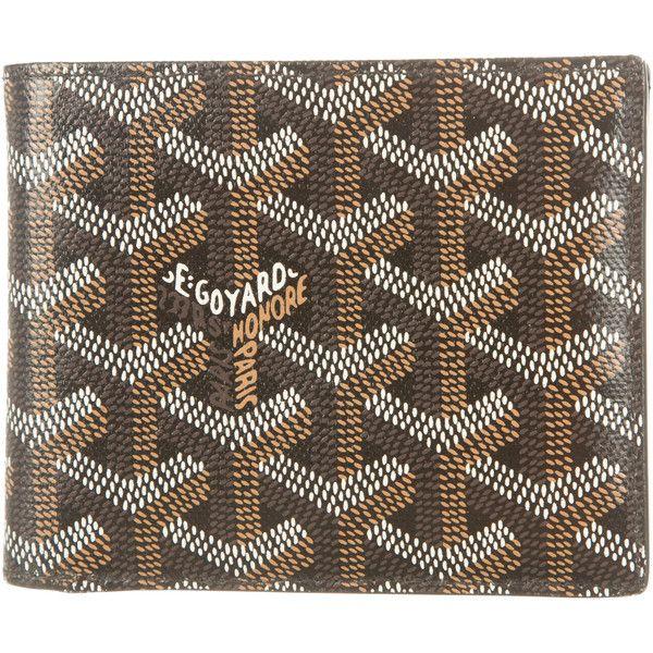 Pre-owned Goyard Goyardine Wallet ($825) ❤ liked on Polyvore featuring men's fashion, men's bags, men's wallets, black, mens wallets and goyard mens wallet