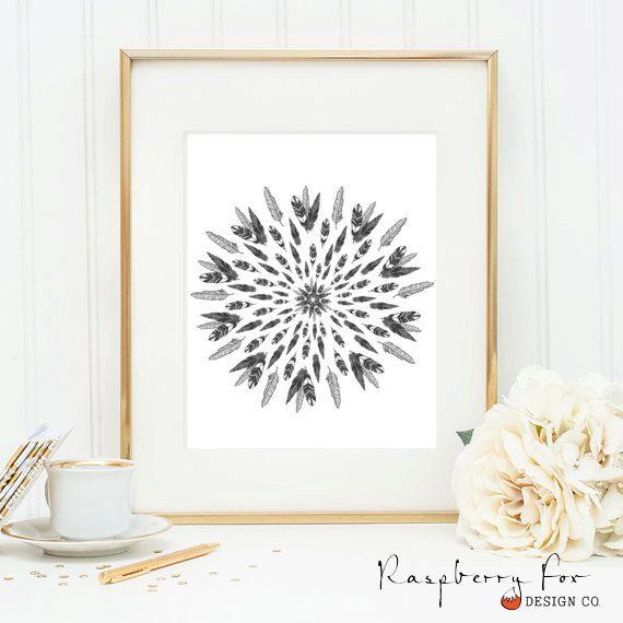 Digital Print - Feather Mandala