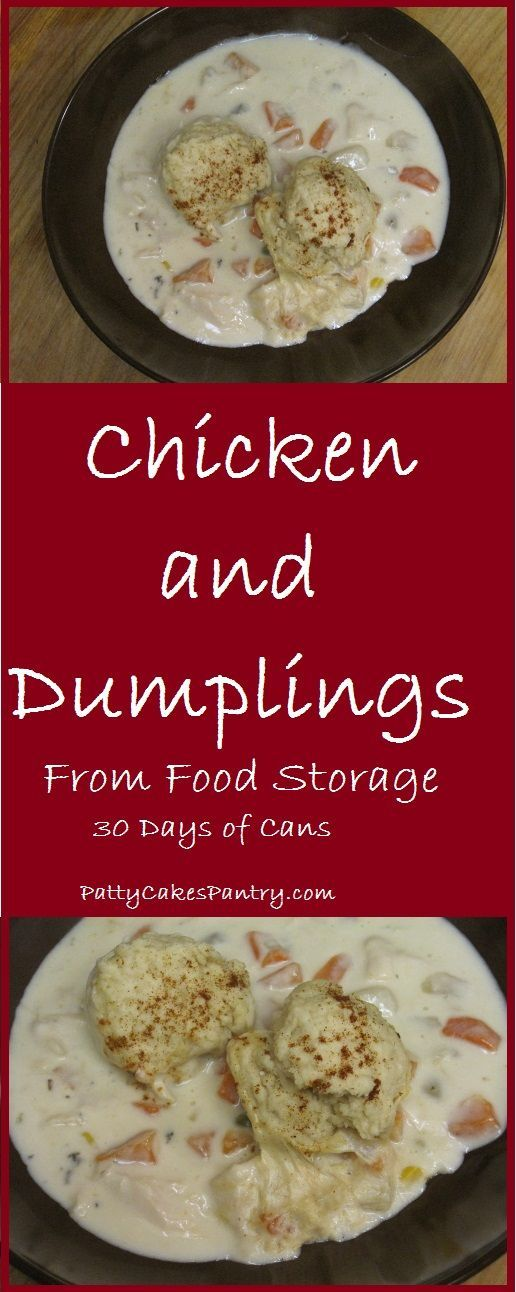 Chicken and Dumplings from Food Storage--Ready in 30 minutes