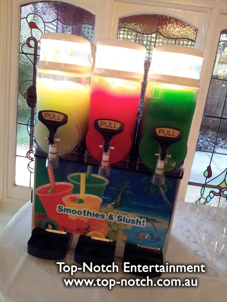 This one's not actually a lolly buffet… BUT it's an alcoholic 'Slurpee' machine! Yes, that's right, three different alcoholic slurpees.  www.top-notch.com.au  www.facebook.com/WeddingDJTopNotch