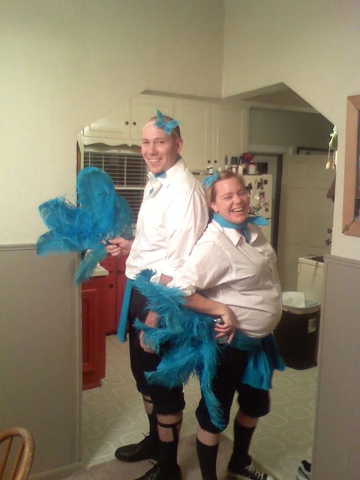 our halloween costumes in 2009....sisters...sisters. gotta ...