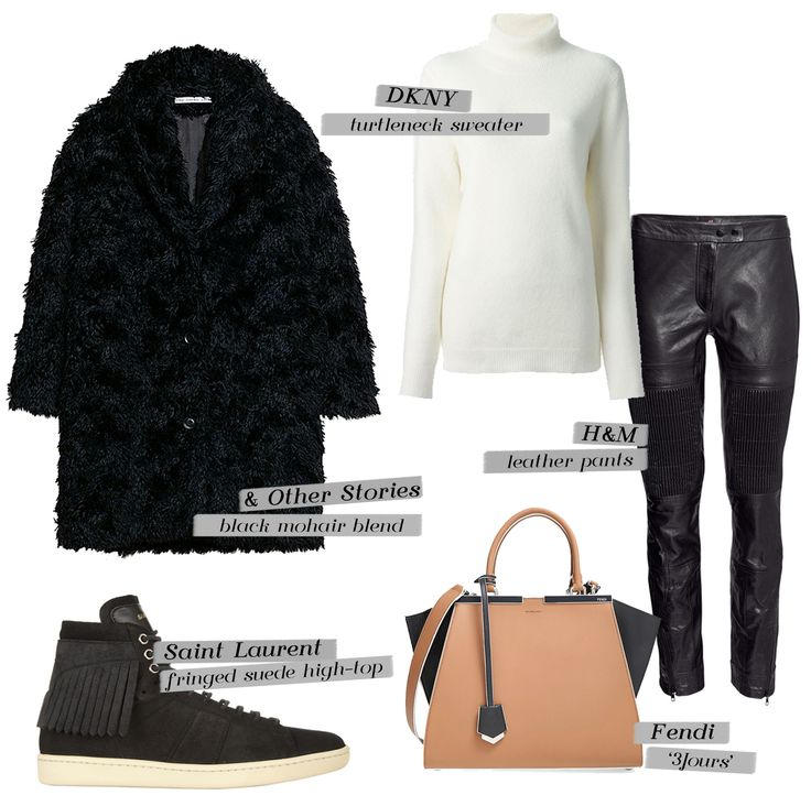 Fur coat and leather pants. Inspired look by Olivia Palermo. Paperandchic.blogspot.com