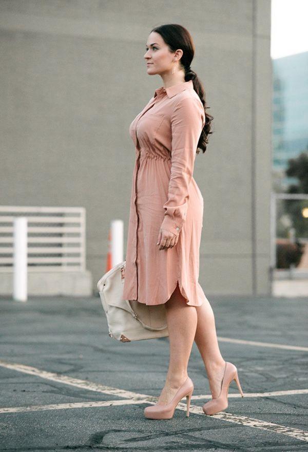 платье-рубашка для 40-летней с пышными формами