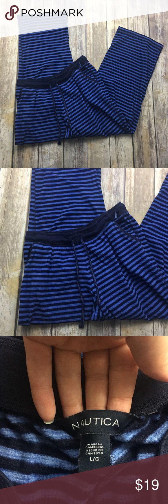 🎈 Nautica Blue Thermal Pajama Pants Size Large 🎈 Nautica Blue Thermal Pajama Pants Size Large. New without tags. 32 inch waist. 32 inch inseam. Elastic waistband. Only washed never worn. Nautica Intimates & Sleepwear Pajamas