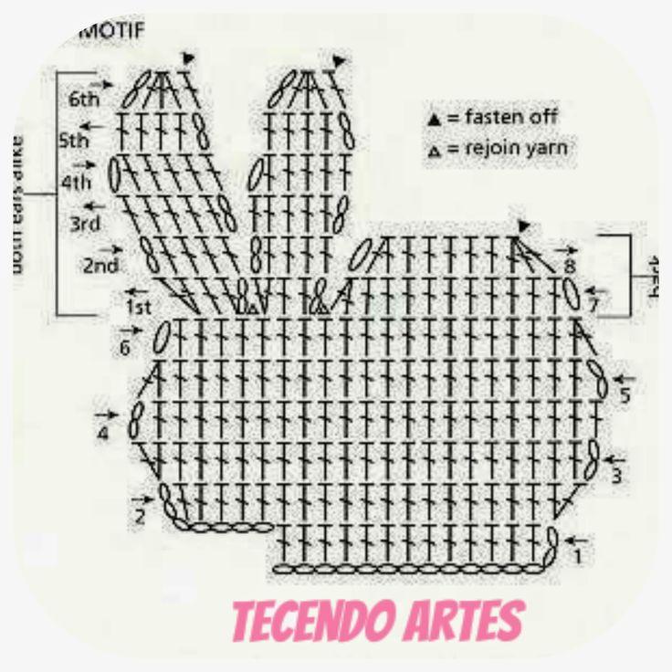 Tecendo Artes em Crochet: Coelhinhos de crochê