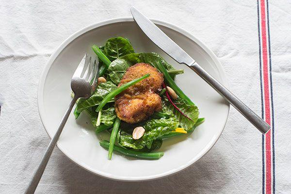 Parmesan-crusted lamb schnitzel – Recipes – Bite