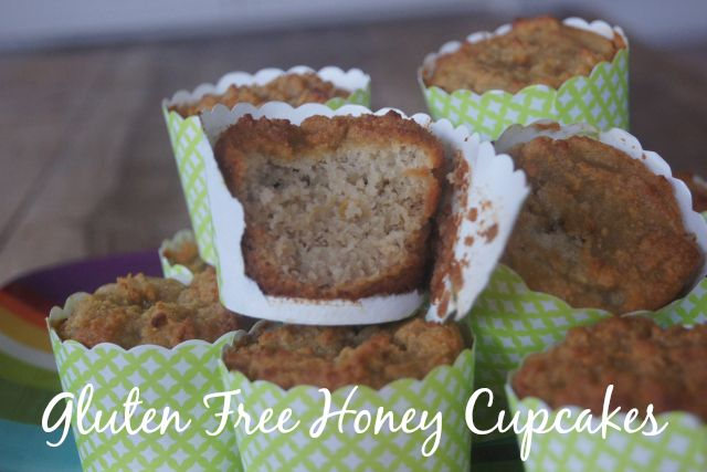 Gluten free, nut free and cane sugar free, these honey cupcakes are perfect for the kids' lunch boxes and as an afternoon tea treat.