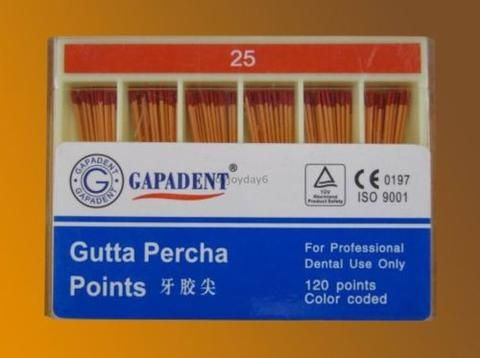 New High Quality Dental Endodontics Gutta Percha Points Tips 0.2Taper 15-40#