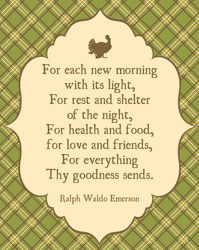 Thanksgiving Quote | Giving Thanks Quote By Ralph Waldo Emerson Via  HomeBunch.com #gratitude