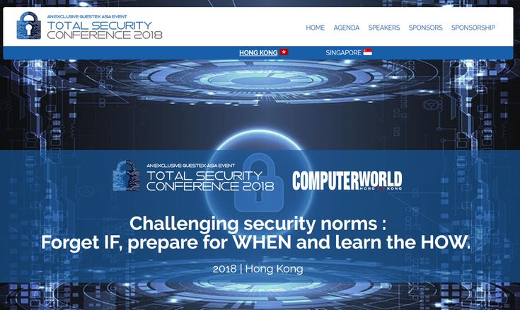 Total Security Conference 2018 Hong Kong | Questex Events The NetworkWorld Asia's Info Security Conference will discuss the latest IT threats and safety measures that could possibly save your company from being the next target. https://goo.gl/JZvjJ8