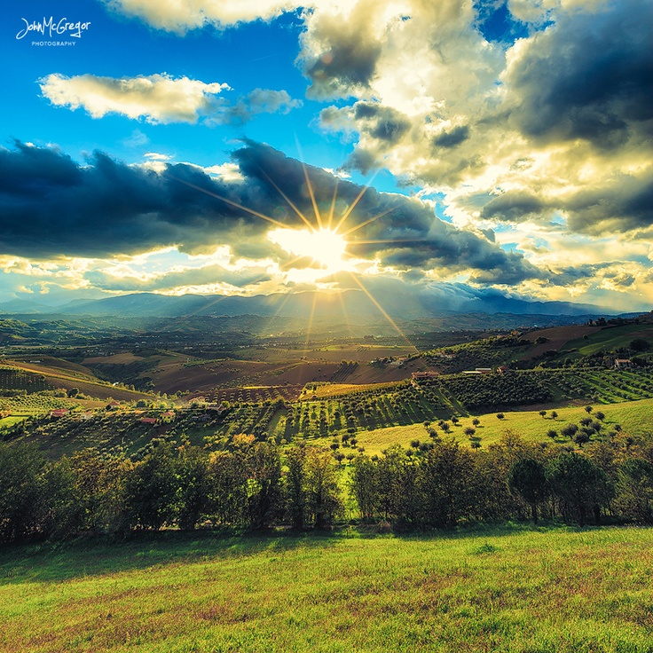 The countryside of Abruzzo, Italy