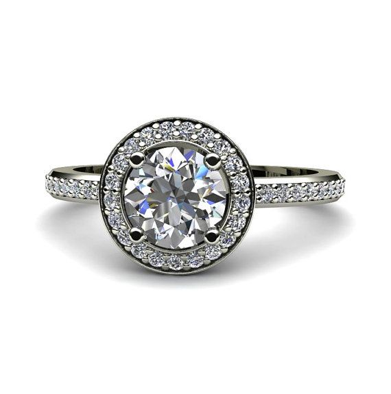 1000 ideas about white sapphire engagement rings on